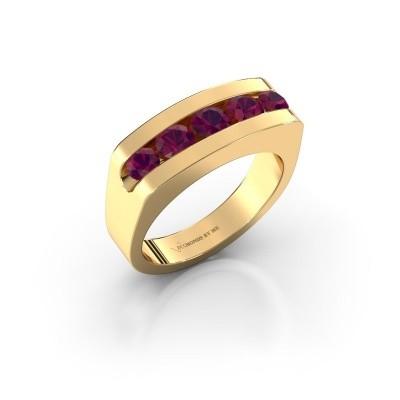 Foto van Heren ring Richard 375 goud rhodoliet 4 mm