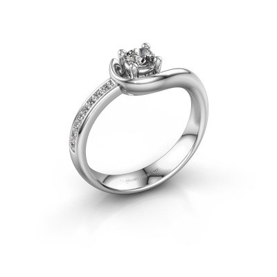Foto van Ring Ceylin 585 witgoud diamant 0.31 crt