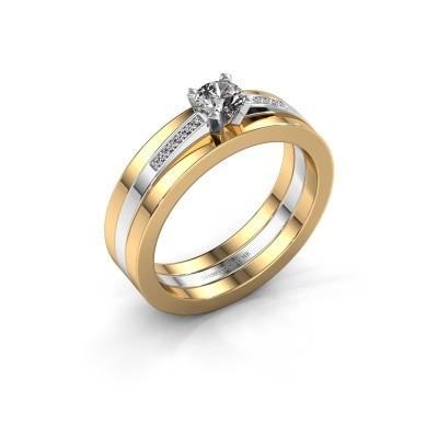 Verlovings ring Celeste 585 witgoud diamant 0.275 crt