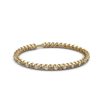 Foto van Tennisarmband Asley 375 goud bruine diamant 4.40 crt