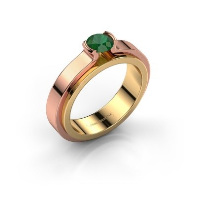 Engagement ring Jacinda 585 gold emerald 4.7 mm