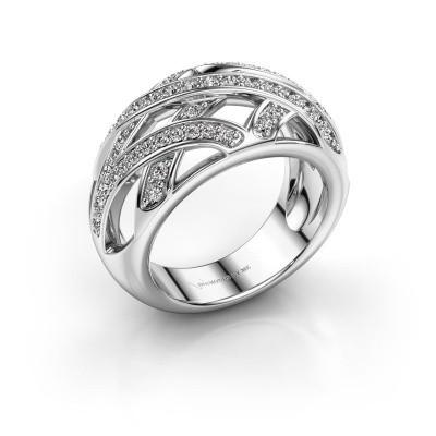 Ring Yinthe 585 witgoud diamant 0.60 crt