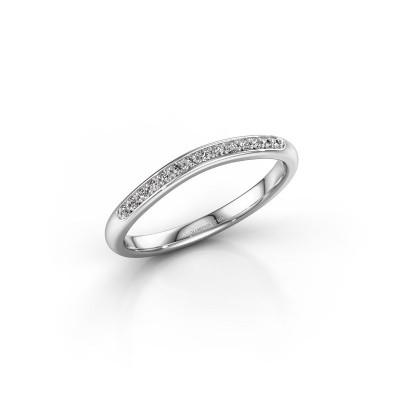 Aanschuifring SR20A4H 585 witgoud diamant 0.105 crt