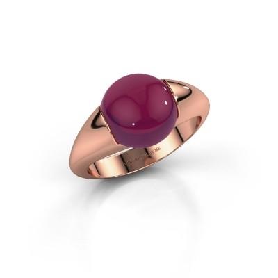 Foto van Ring Robine 750 rosé goud rhodoliet 10 mm