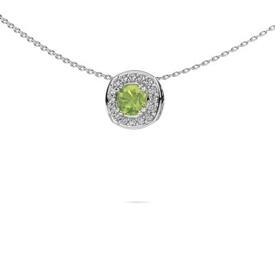 Picture of Necklace Carolina 925 silver peridot 5 mm
