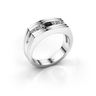 Foto van Heren ring Huub 925 zilver zwarte diamant 0.60 crt