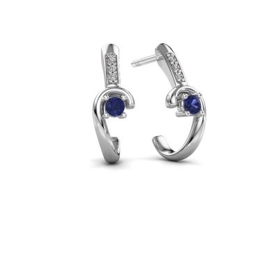 Picture of Earrings Ceylin 925 silver sapphire 2.5 mm