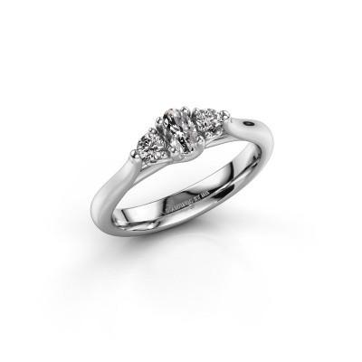 Foto van Verlovingsring Jente OVL 585 witgoud diamant 0.39 crt