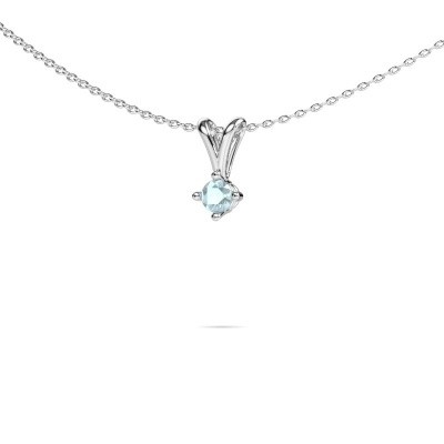Picture of Necklace Jannette 585 white gold aquamarine 3.7 mm