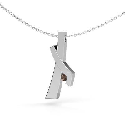 Picture of Pendant Alyssa 925 silver smokey quartz 2.7 mm