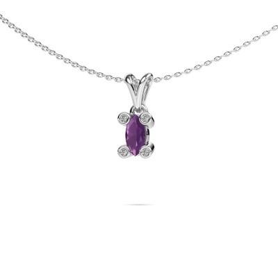Picture of Necklace Cornelia Marquis 950 platinum amethyst 7x3 mm