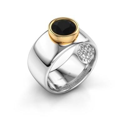 Foto van Ring Klarinda 585 witgoud zwarte diamant 1.56 crt