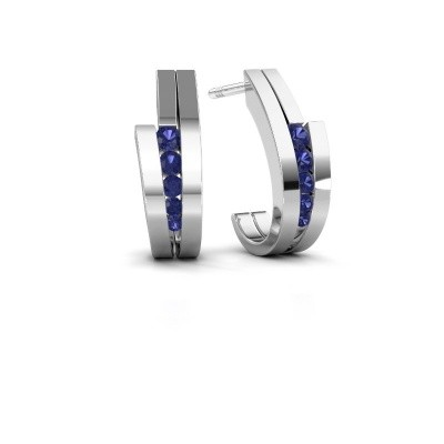 Picture of Earrings Cato 925 silver sapphire 2.2 mm