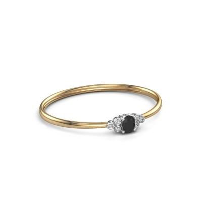 Foto van Slavenarmband Lucy 585 goud zwarte diamant 1.500 crt