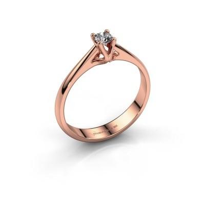 Foto van Verlovingsring Janna 1 585 rosé goud diamant 0.15 crt