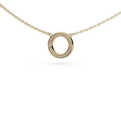 Picture of Pendant Round 1 585 gold zirconia 0.8 mm
