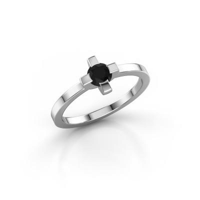 Foto van Ring Therese 585 witgoud zwarte diamant 0.36 crt