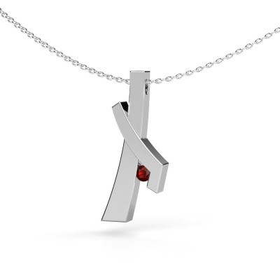 Picture of Pendant Alyssa 585 white gold garnet 2.7 mm