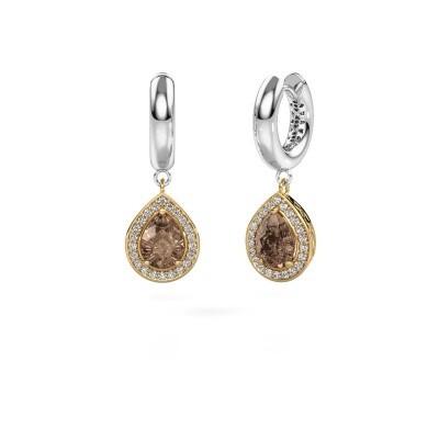 Bild von Ohrhänger Barbar 1 585 Gold Braun Diamant 2.065 crt