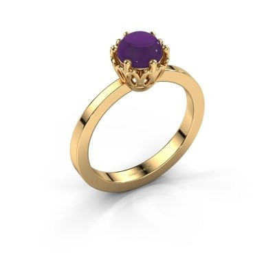 Foto van Ring Marly 585 goud amethist 6 mm