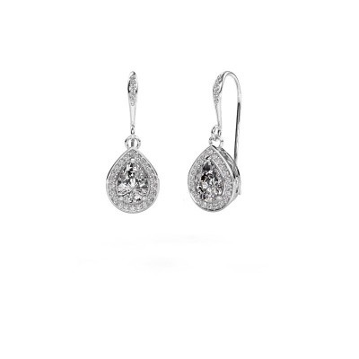 Foto van Oorhangers Beverlee 2 950 platina diamant 1.435 crt