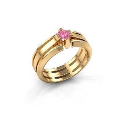 Foto van Heren ring Sem 585 goud roze saffier 4.7 mm