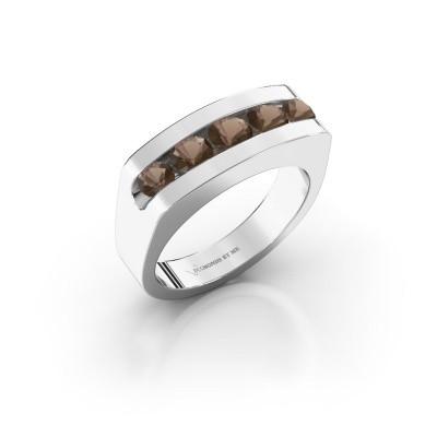 Foto van Heren ring Richard 375 witgoud rookkwarts 4 mm