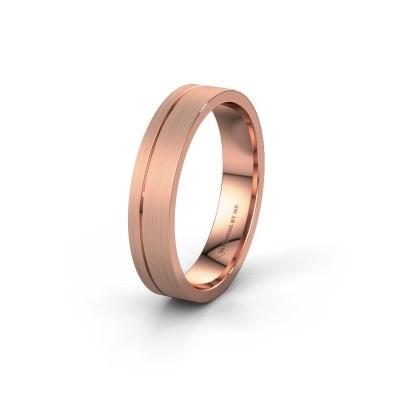 Trouwring WH0156M14X 585 rosé goud ±4x1.5 mm