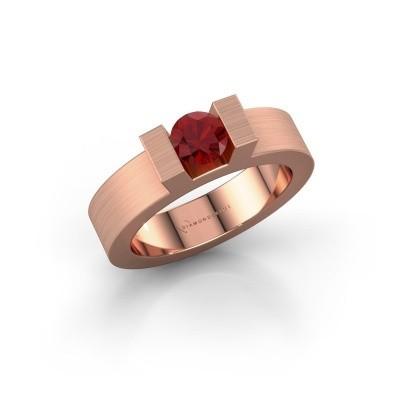 Foto van Ring Leena 1 375 rosé goud robijn 5 mm