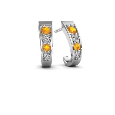 Picture of Earrings Glady 925 silver citrin 3 mm