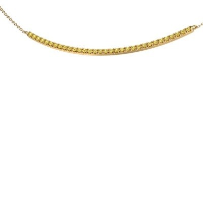 Picture of Bar necklace Simona 585 gold yellow sapphire 1.5 mm