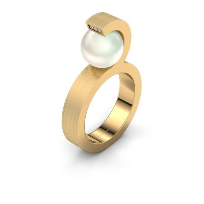 Foto van Ring Juana 375 goud witte parel 9 mm