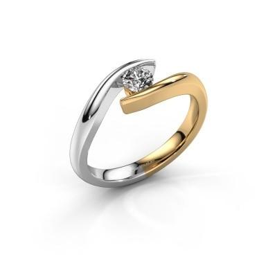 Foto van Aanzoeksring Alaina 585 goud diamant 0.25 crt