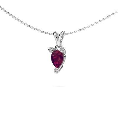 Picture of Necklace Cornelia Pear 950 platinum rhodolite 7x5 mm