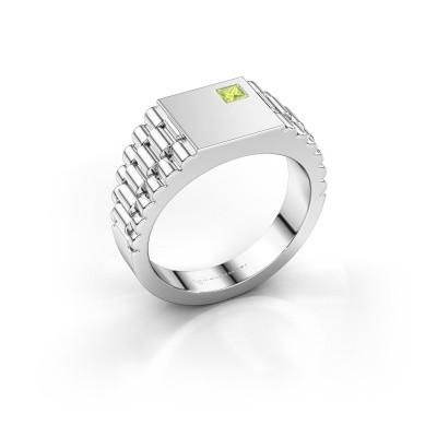 Foto van Rolex stijl ring Pelle 950 platina peridoot 3 mm