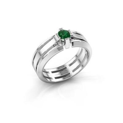 Foto van Heren ring Sem 950 platina smaragd 4.7 mm