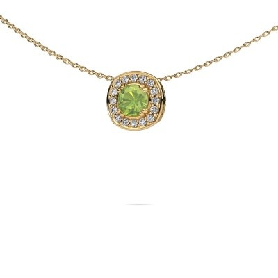 Picture of Necklace Carolina 585 gold peridot 5 mm