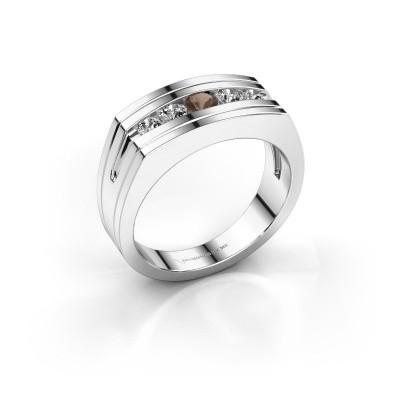 Foto van Heren ring Huub 585 witgoud rookkwarts 3.7 mm