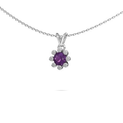 Picture of Pendant Carola 1 375 white gold amethyst 5 mm