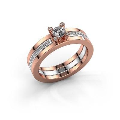 Foto van Ring Alisha 585 rosé goud lab created 0.36 crt
