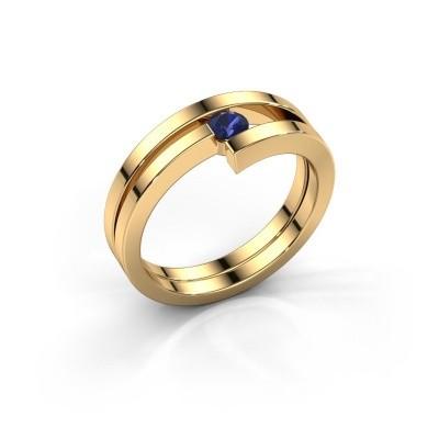 Foto van Ring Nikia 585 goud saffier 3.4 mm