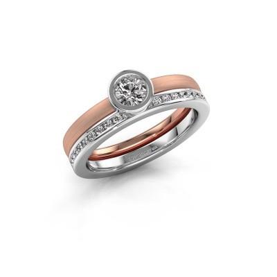 Foto van Ring Cara 585 rosé goud diamant 0.69 crt