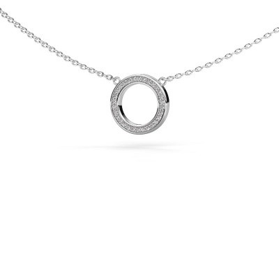 Picture of Pendant Round 1 925 silver zirconia 0.8 mm