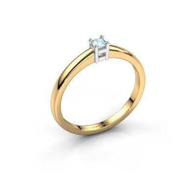 Foto van Promise ring Eline 1 585 goud aquamarijn 3 mm