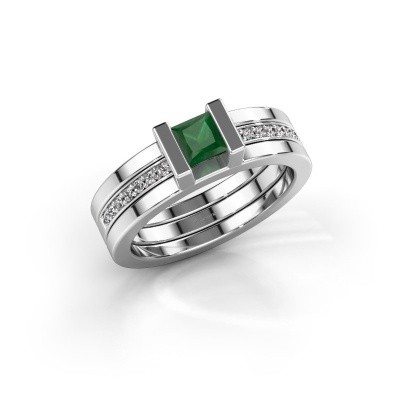 Picture of Ring Desire 585 white gold emerald 4 mm