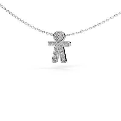 Picture of Pendant Boy 925 silver zirconia 1 mm