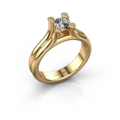 Foto van Belofte ring Stefanie 1 585 goud diamant 0.53 crt