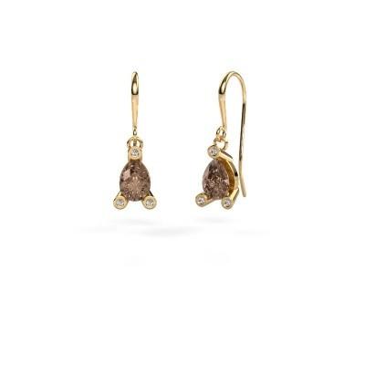 Bild von Ohrhänger Bunny 1 585 Gold Braun Diamant 1.345 crt
