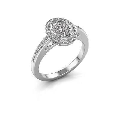 Promise ring Brigitte 585 witgoud diamant 0.505 crt