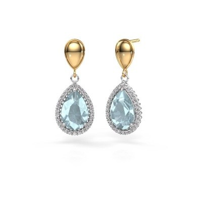 Picture of Drop earrings Cheree 1 585 white gold aquamarine 12x8 mm
